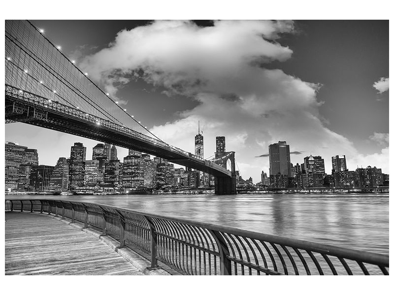Canvasfoto Skyline Black And White Photography Brooklyn Bridge NY