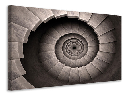 Canvasfoto Stone Spiral Staircase