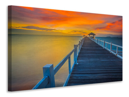 Canvas print A Wooden Bridge In The Far East