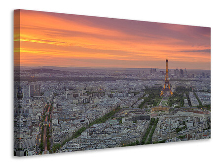 Canvas print Paris Skyline At Sunset