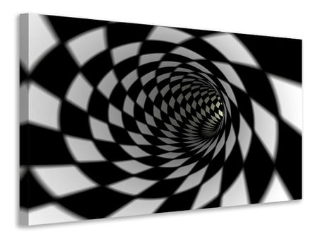 Canvas print Abstract Tunnel Black & White