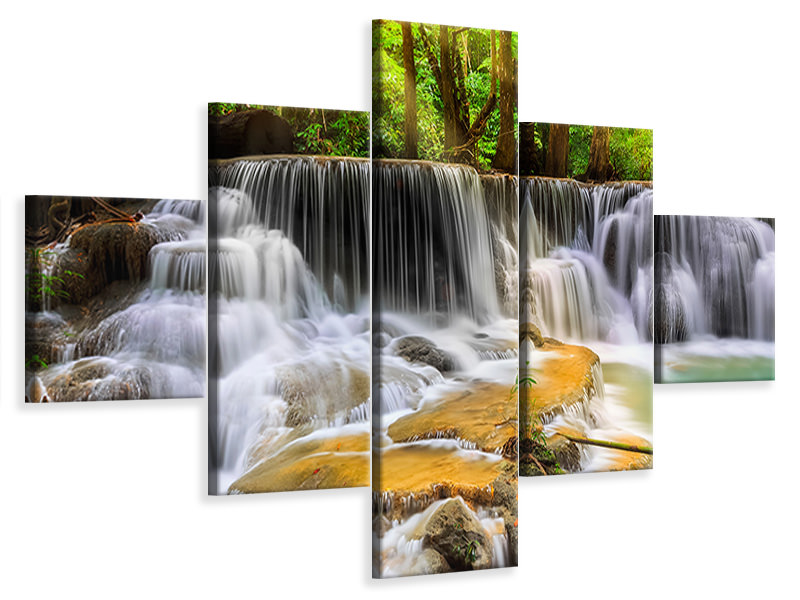 5 Piece Canvas Print National Park Si Nakharin
